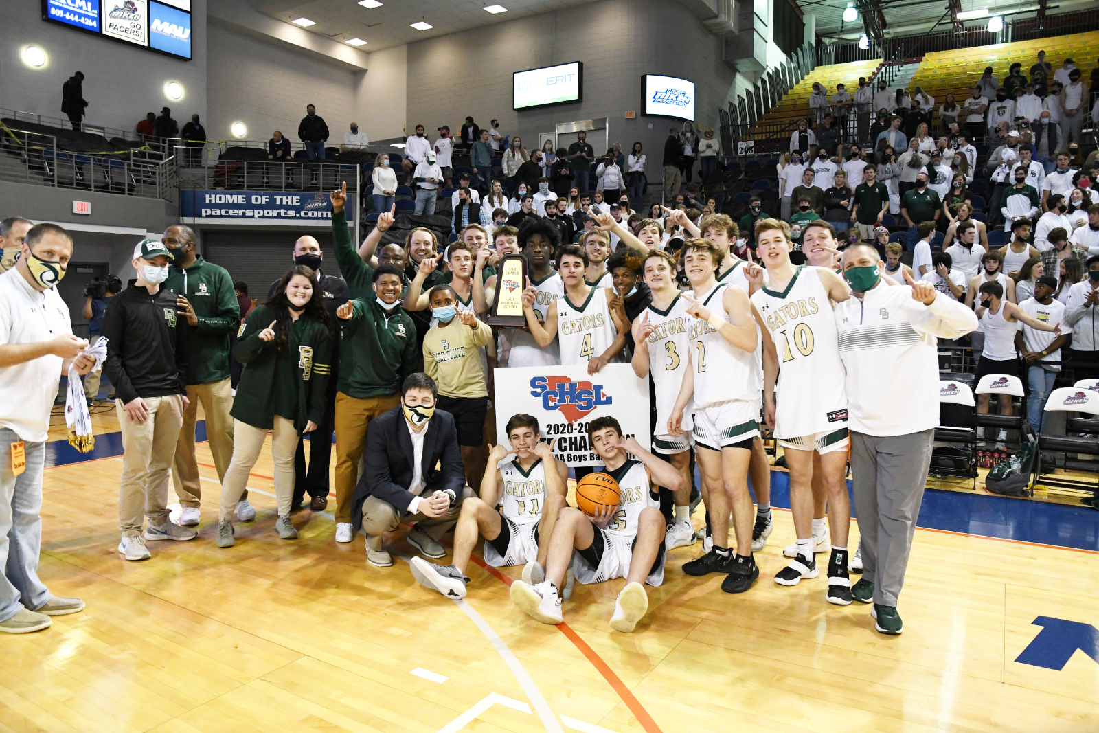 Photo Gallery: Men's Basketball 2020-21 State Championship – Trophy and Awards Presentation