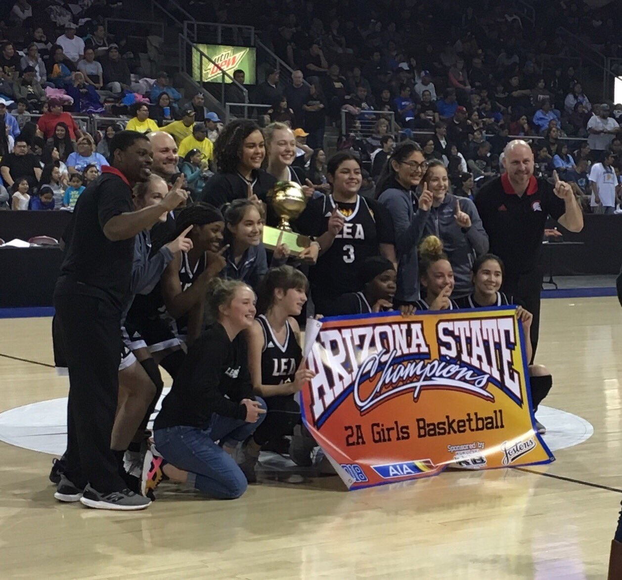 Leading Edge Girls Basketball Team Captures 2A State Title