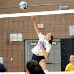 Volleyball team clinches victory over opponent