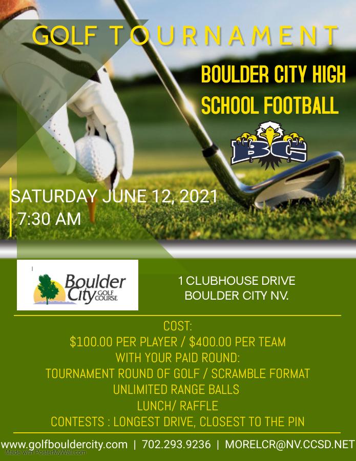 BCHS Football – Golf Tournament Sat. June 12th 2021