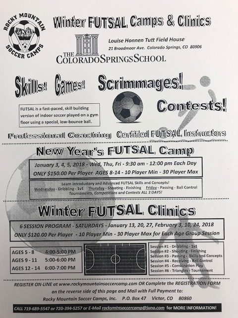 Sign Up Now: Winter Soccer and Futsal Camps