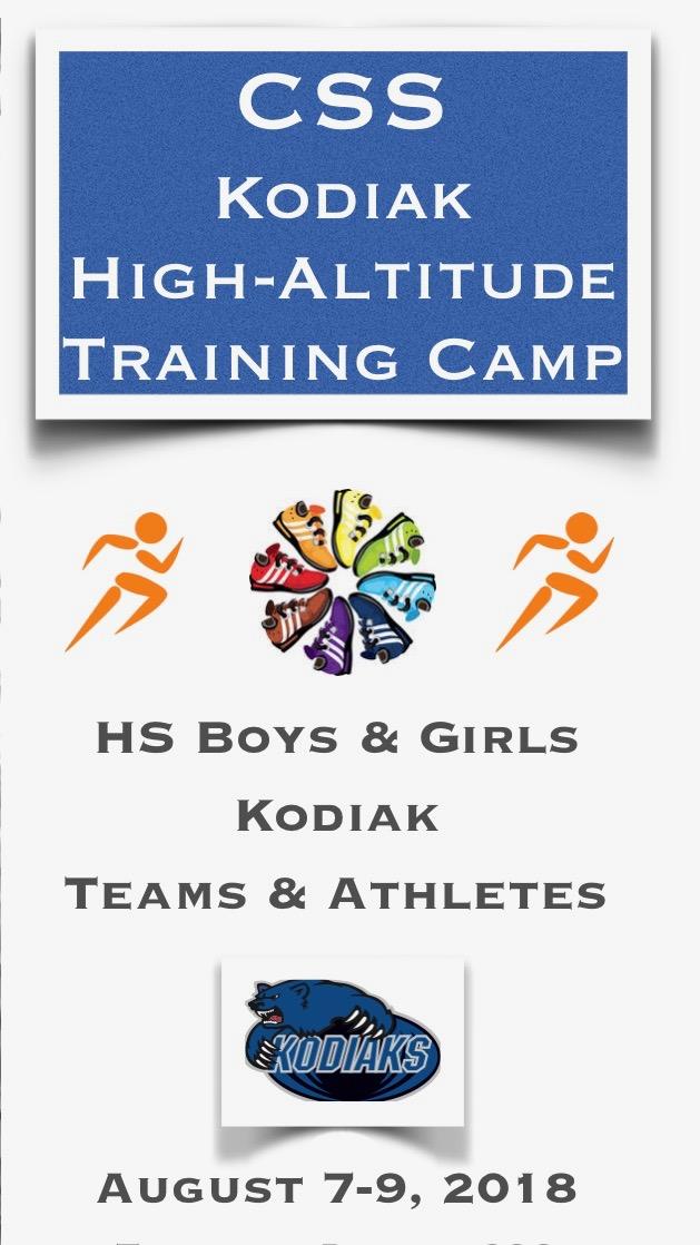 """NEW"" Kodiak High-Altitude Training Camp:  August 7-9"
