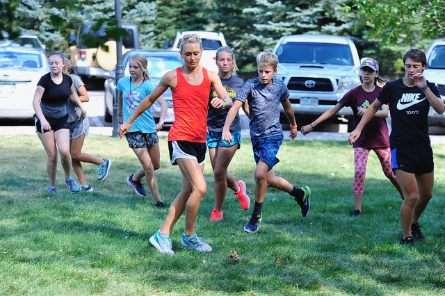 Olympic Hopeful Inspires CSS Cross Country Runners