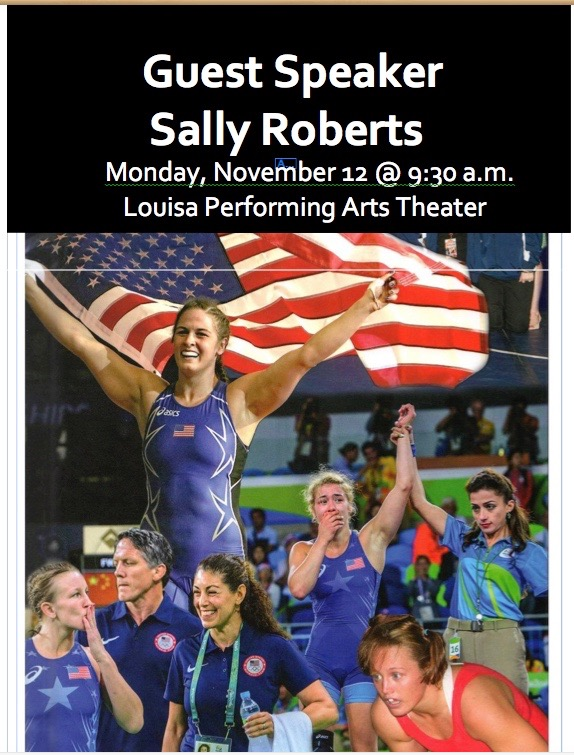 Guest Speaker Sally Roberts rescheduled to talk about Grit on Dec. 3rd