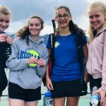 Girls Varsity Tennis edges Mesa Ridge 4 – 3