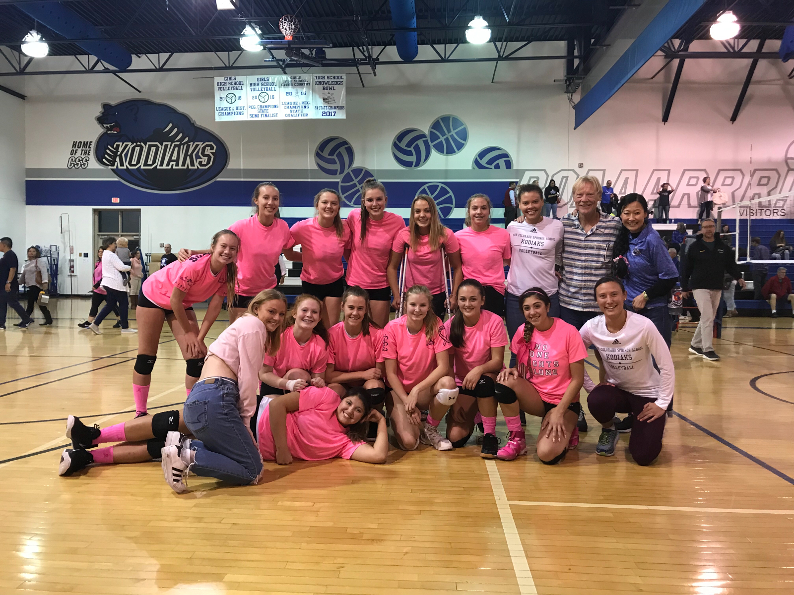 Victorious Pink Out Day For Kodiaks