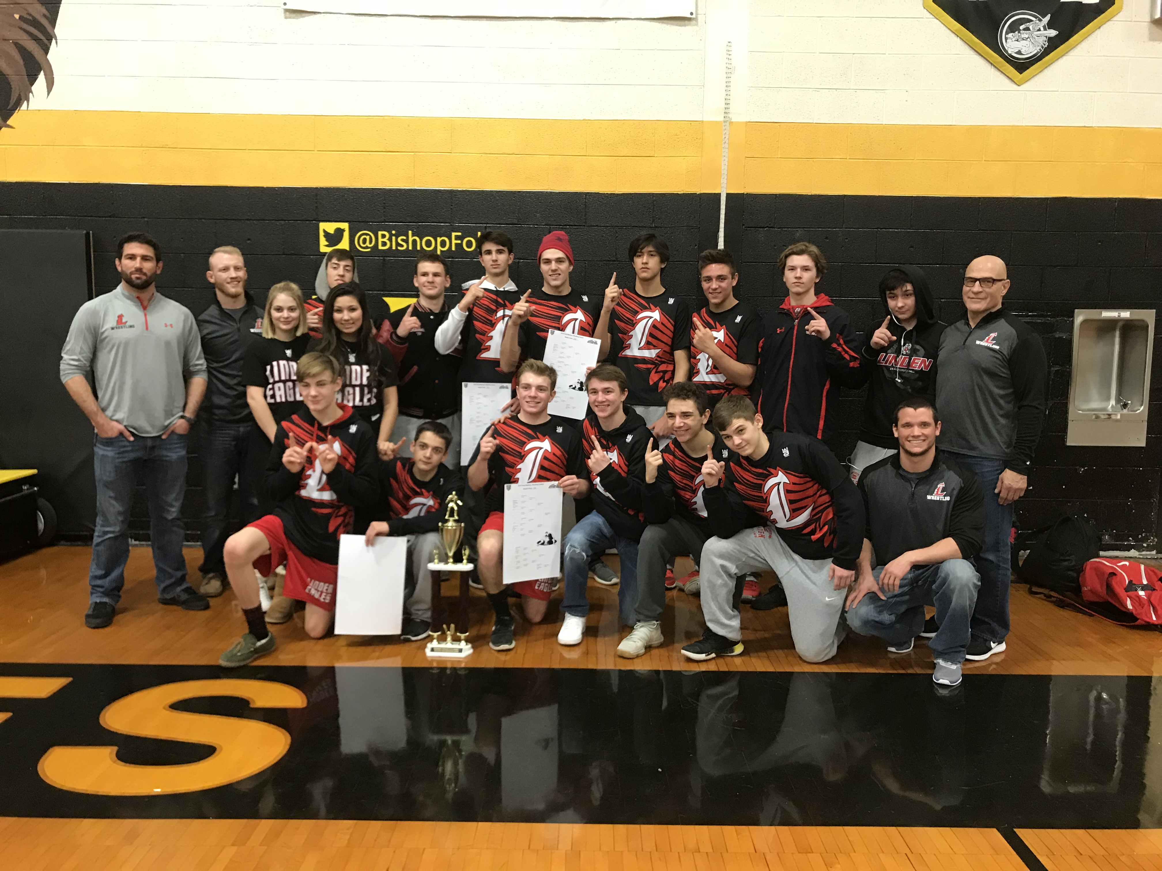 Varsity Wrestling Takes First Place!!