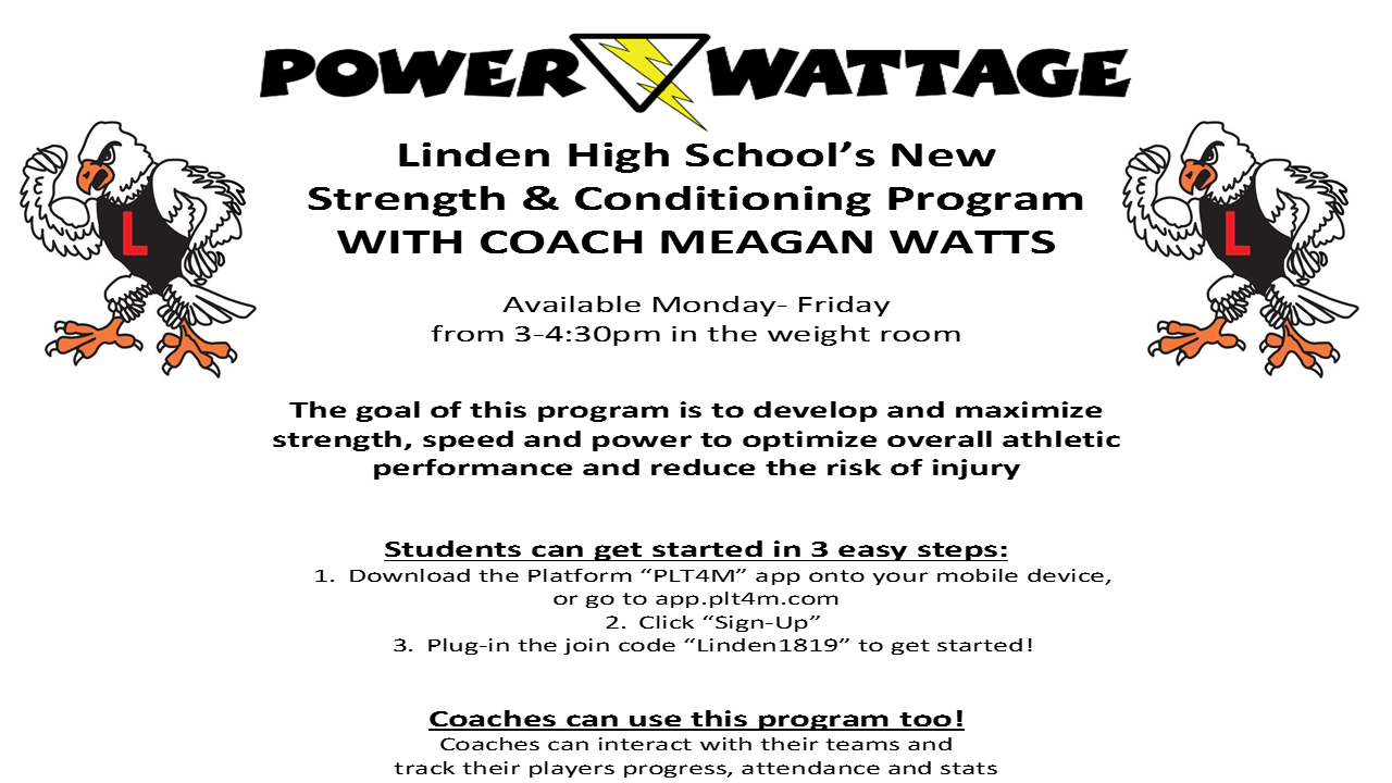 Linden High School Strength and Conditioning