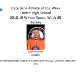 The State Bank Athlete of the Week