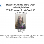 State Bank Athlete of The Week
