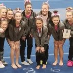 Girls Varsity Gymnastics finishes 2nd place at East Lansing Invitational