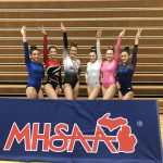 Girls Varsity Gymnastics finishes 8th place at MHSAA Team State Competition