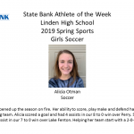 Linden's State Bank Athlete of the Week!!
