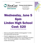 Sports Physicals for the 2019-2020 School Year!!!!
