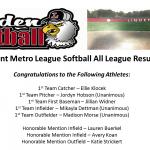 Flint Metro League Softball All League Results