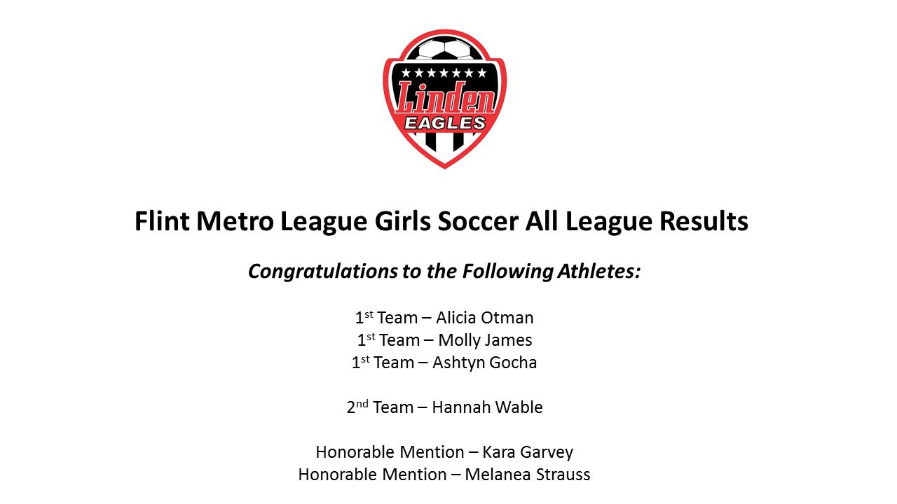 Flint Metro League Girls Soccer All League Results