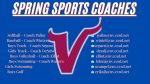 Spring Sports Coaches