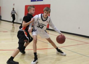 Chrisman JV basketball versus Platte County at Truman Tournament