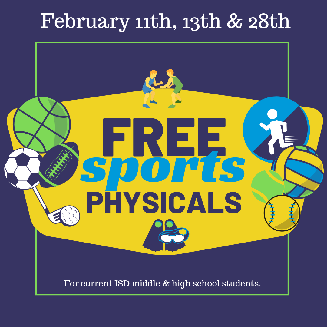 Free Physicals for ISD Middle & High School Athletes