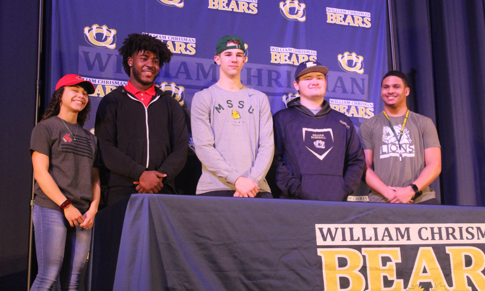 Winter Signing Ceremony: Five Bears Sign to Continue Athletics at Next Level