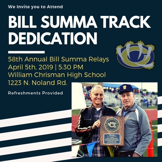 Bill Summa Track Dedication April 5th, 2019