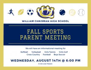 WCHS Fall Sports Parent Meeting