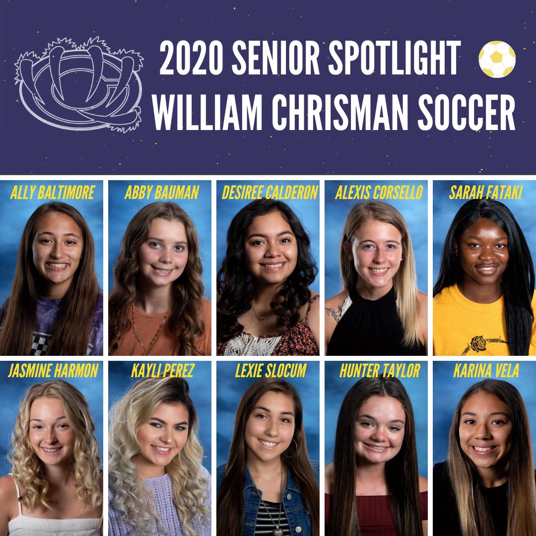 Girl's Soccer Spring 2020 Senior Spotlight