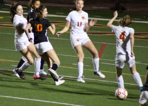 JV Girls Soccer home vs. Woodside – 1/30/18