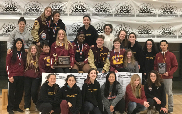 Menlo-Atherton High School Girls Wrestling wins CCS Championship title for third year in a row