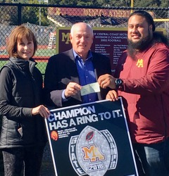 Kiwanis Club of Menlo Park donates $5k to M-A Football Association