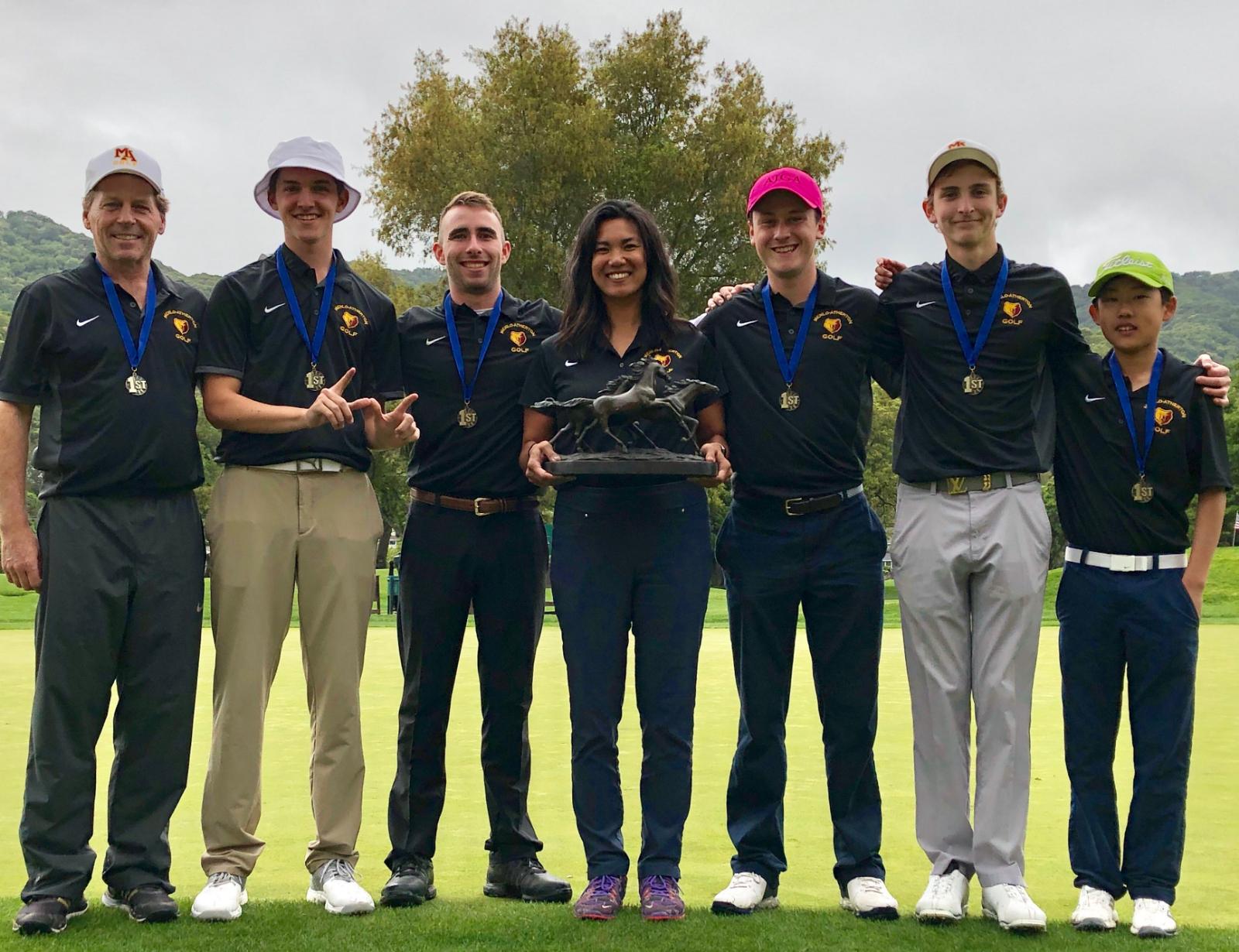 Boys golf wins Mustang Invitational