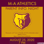 M-A Athletics Parent Info. Night