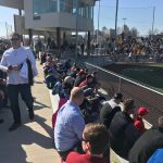 STALEY BASEBALL TEAM CHECKS OUT ALUMNI IN ACTION