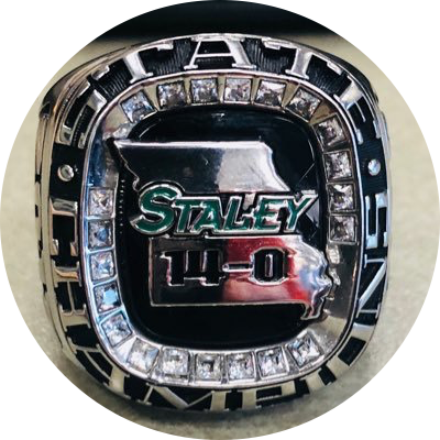 STALEY FOOTBALL STATE CHAMPIONSHIP RING CEREMONY