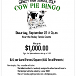 COW PIE BINGO SET FOR SAT., SEPT. 22