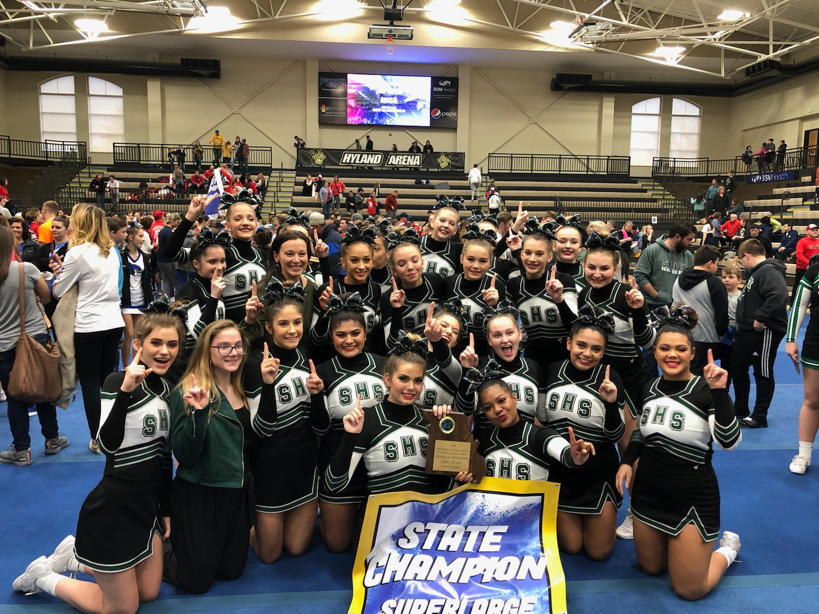 BACK TO BACK STATE CHEER CHAMPS!!!