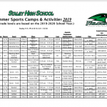 STALEY SUMMER CAMP FORM NOW AVAILABLE!