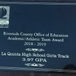 Girls Track Receives RCOE Academic/Athletic Team Award