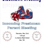 Wrestling will be having a meeting for incoming Freshmen