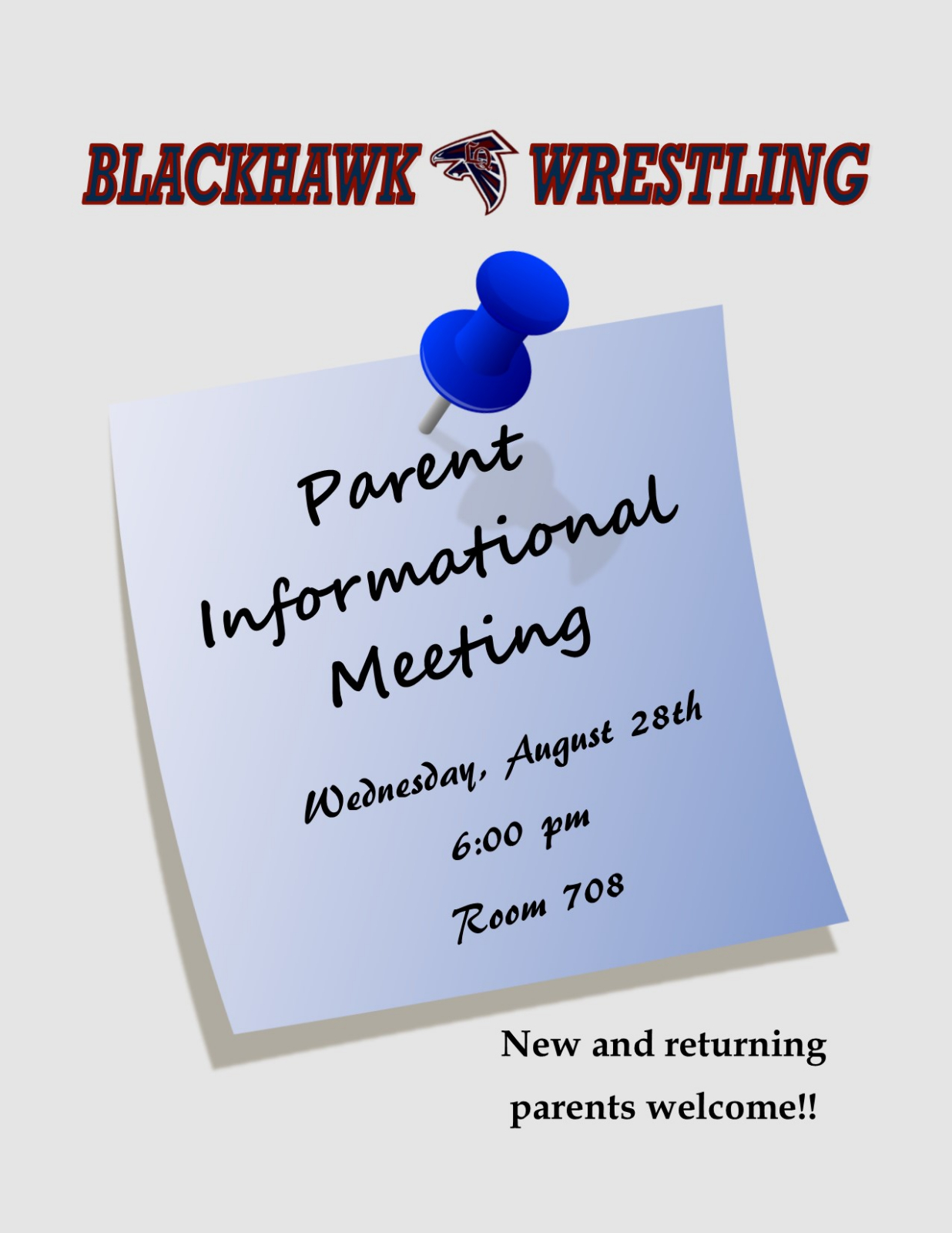 Wrestling Parent Informational Meeting – August 28th