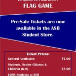 Flag Game Tickets now on sale!!!