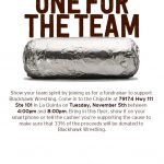 Wrestling Dine-In night at Chipotle
