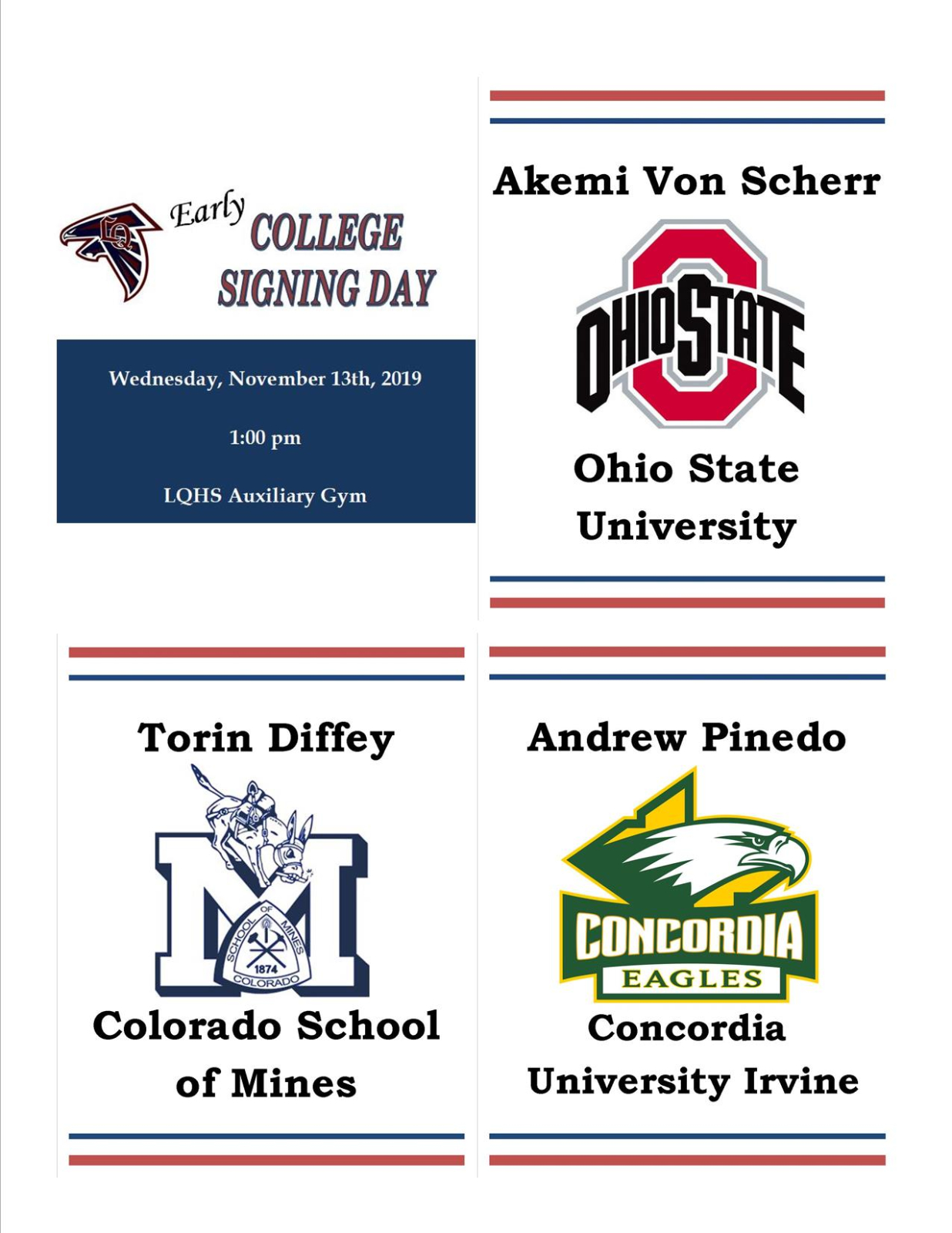 Early College Signing Day Celebration