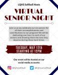 Blackhawk Softball is hosting a Virtual Senior Night