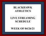 Live Streaming for Athletic Events – Week of 04/26/21
