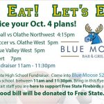 Wednesday, October 4th: Eat at the Blue Moose to raise money for Free State