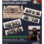 2020-2021 Spirit Squad – Cheer, Dance & Mascot Tryouts Announced