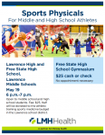2021-22 Sports Physical Night Sponsored by LMH