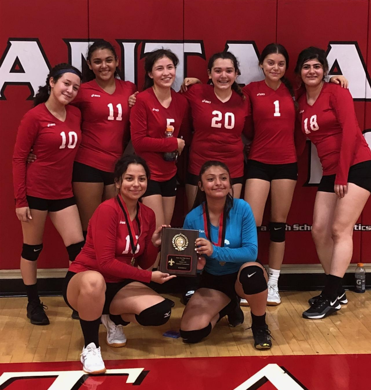 Saints volleyball takes 2nd in tournament
