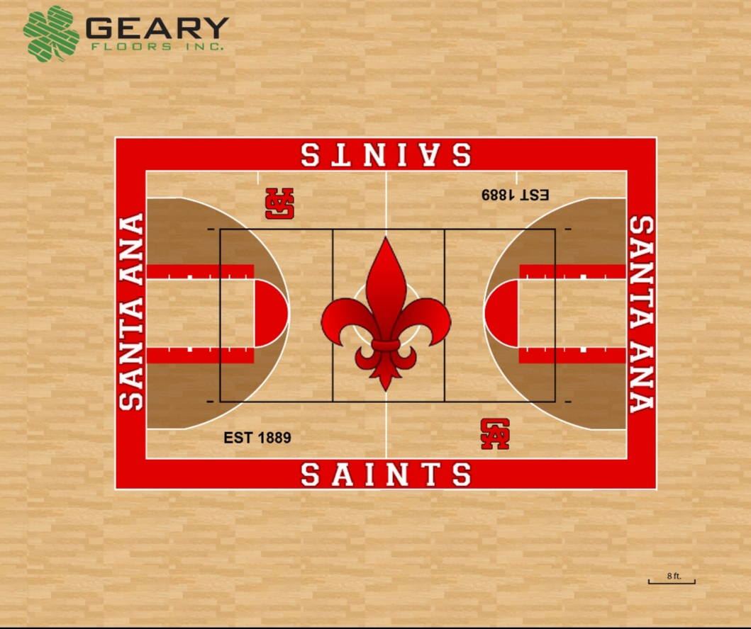 Santa Ana High Gym Floor Project Underway
